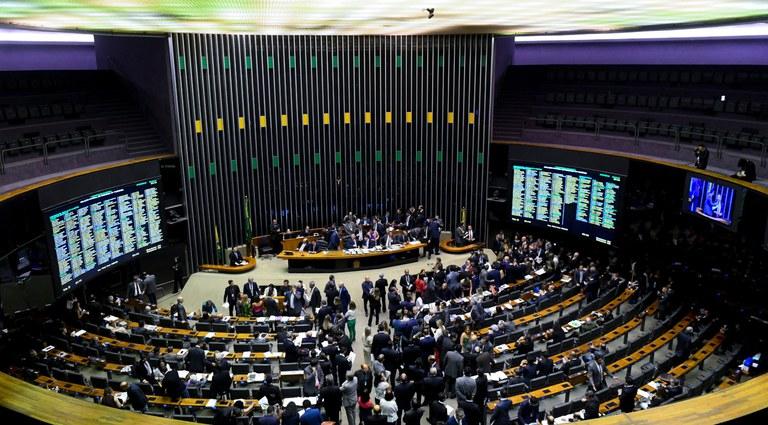 Plenário da Câmara dos Deputados durante sessão conjunta do Congresso Nacional destinada à apreciação de vetos e do PLN 5/2019, que trata da LDO de 2020, além de projetos de créditos especiais (Foto: Marcos Oliveira/Agência Senado)