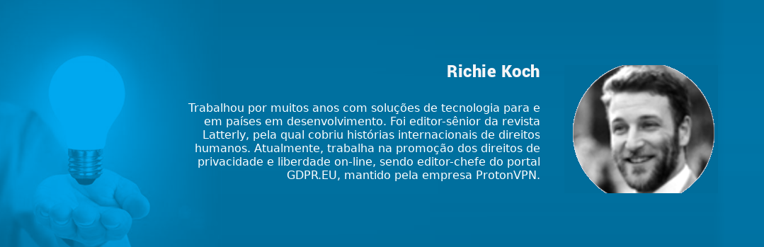 Box com minicurrículo de Richie Koch
