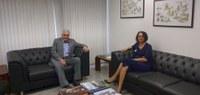 Glória Guimarães participa de reunião com presidente da CCT