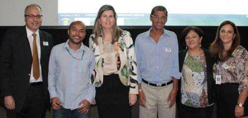 Representantes do Serpro, STN e Ancine durante a apresentação no Rio de Janeiro