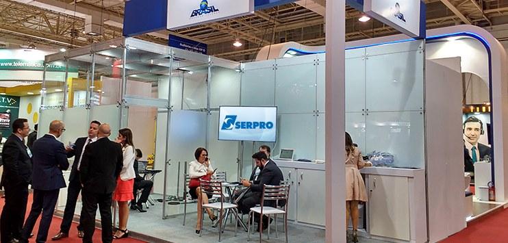 Serpro montou um estande para exposição de produtos e serviços durante o congresso