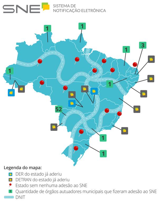 Infográfico sobre adesões ao SNE pelo país