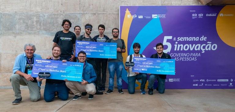 Registro com os vencedores do Hackathon