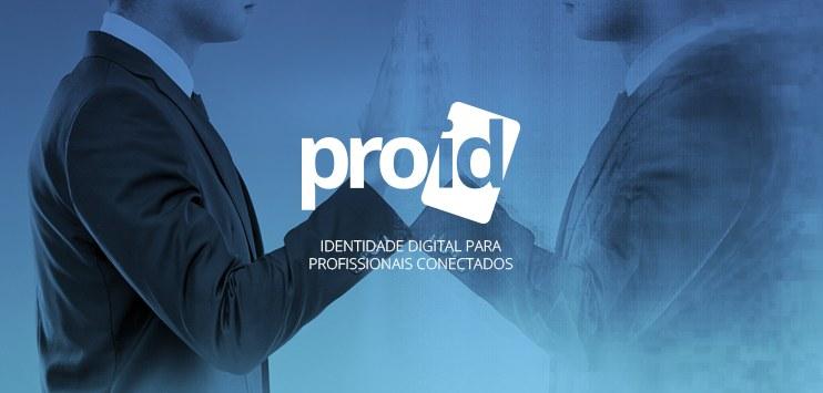 Imagem de um homem em frente ao espelho e, em destaque, a marca da solução ProID