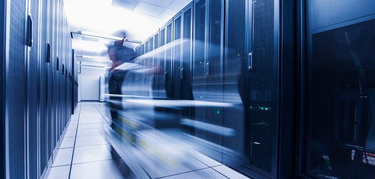 Imagem de um um data center