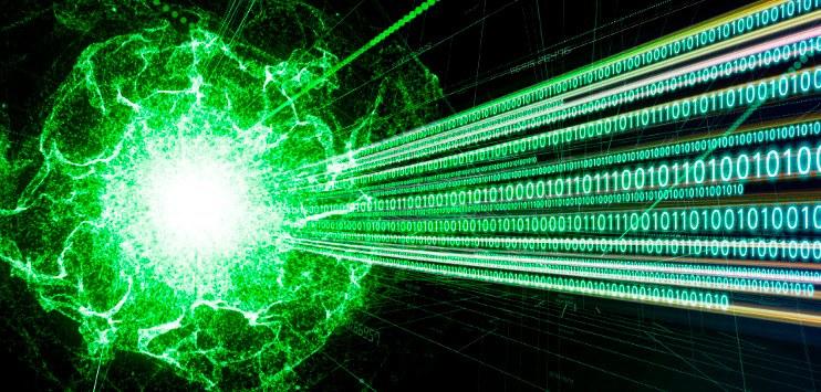 Ilustração abastrata sobre o universo digital