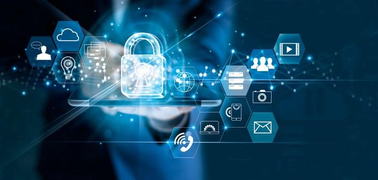 Ilustração abstrata sobre segurança de dados
