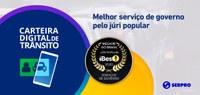 Carteira Digital de Trânsito é o melhor serviço de governo do Brasil