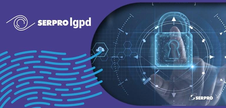 Ilustração que remete à segurança em processos de identificação digital