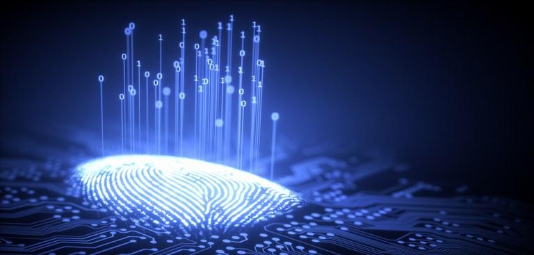 Imagem simula digital em um oceano de bytes