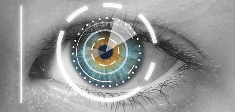 Composição digital de um olho humano